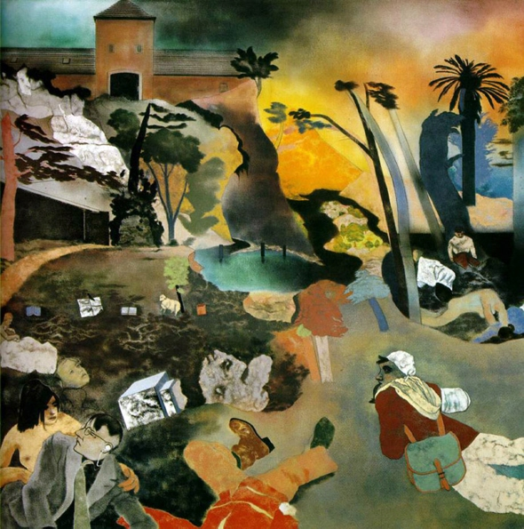 Kitaj, R.B. If Not, Not 1975-76 Oil on canvas 60 x 60 in. (152.4 x 152.4 cm) Scottish National Gallery of Modern Art, Edinburgh