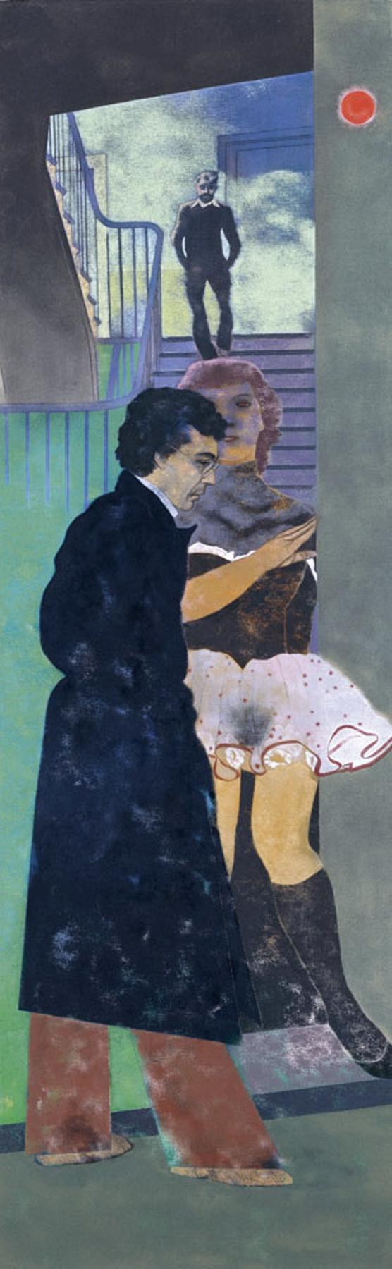 Ronald B. Kitaj Smyrna Greek (Nikos) 1976-77 Oil on canvas . 243.8 x 76.2 cm Museo Thyssen-Bornemisza, Madrid