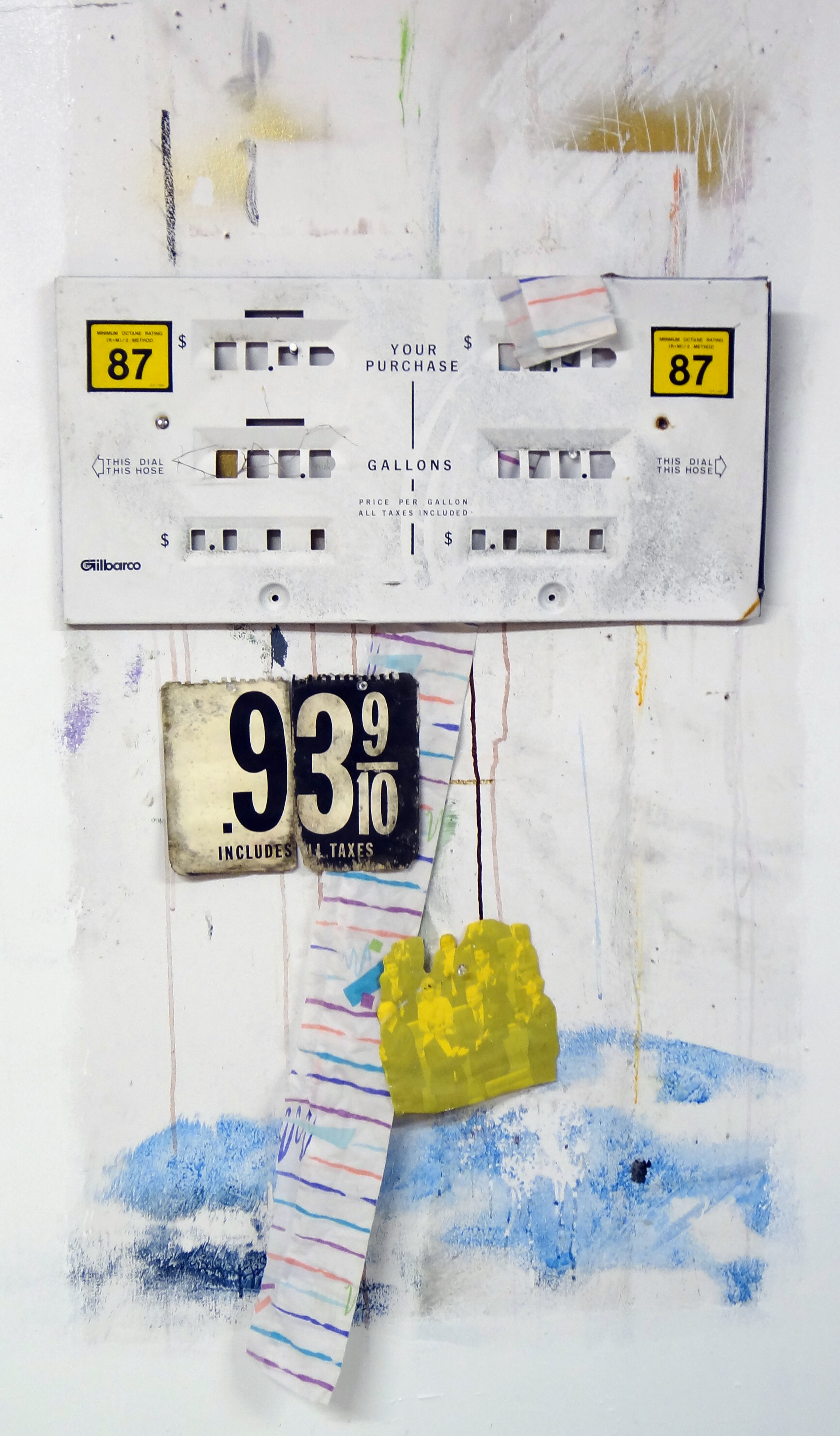 photo collage of found object construction, 2011