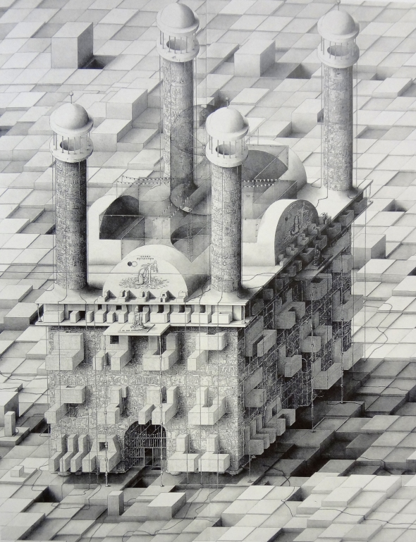 mall, 2003, pencil on four pieces of paper, MOMA
