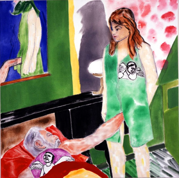 R.B. Kitaj, Los Angeles No. 22 2002 oil on canvas, 36 x 36 inches